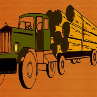Logging Trucks Coloring