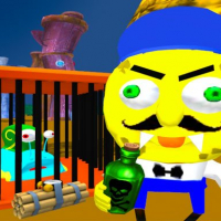 Sponge Neighbor Escape 3D