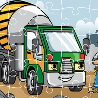 Construction Trucks Jigsaw