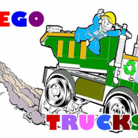 Lego Trucks Coloring
